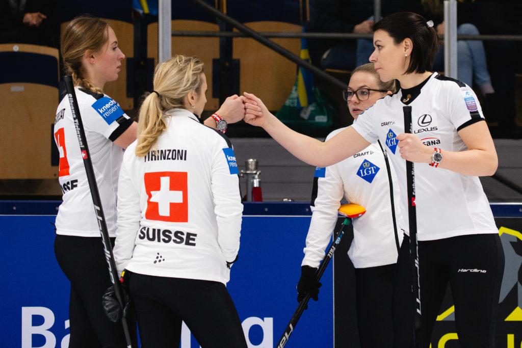 Alina Paetz, Esther Neuenschwander, Melanie Barbezat, Silvana Tirinzoni, sui © WCF / Celine Stucki