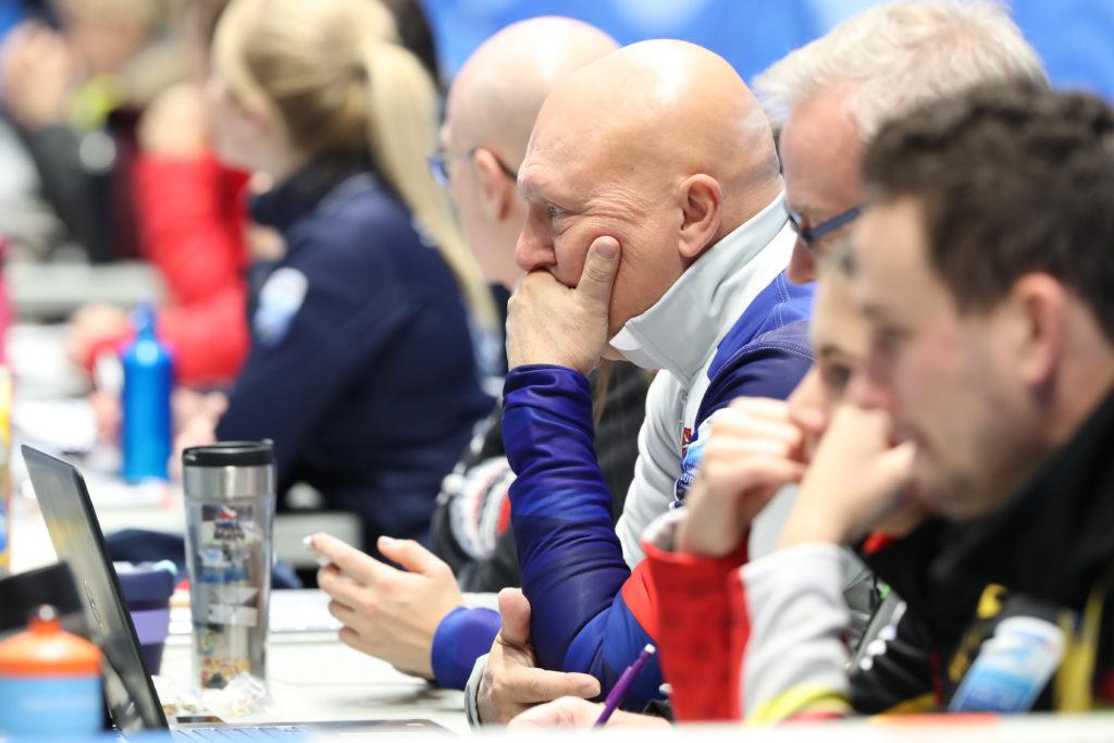 coaches bench, cze, Karel Kubeska © WCF / Richard Gray