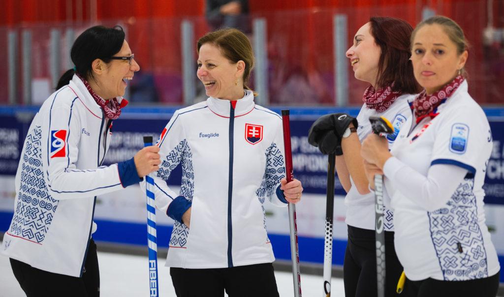 Gabriela Kajanova, Linda Haferova, Lucia Orokocka, Silvia Sykorova, svk  © WCF / Celine Stucki