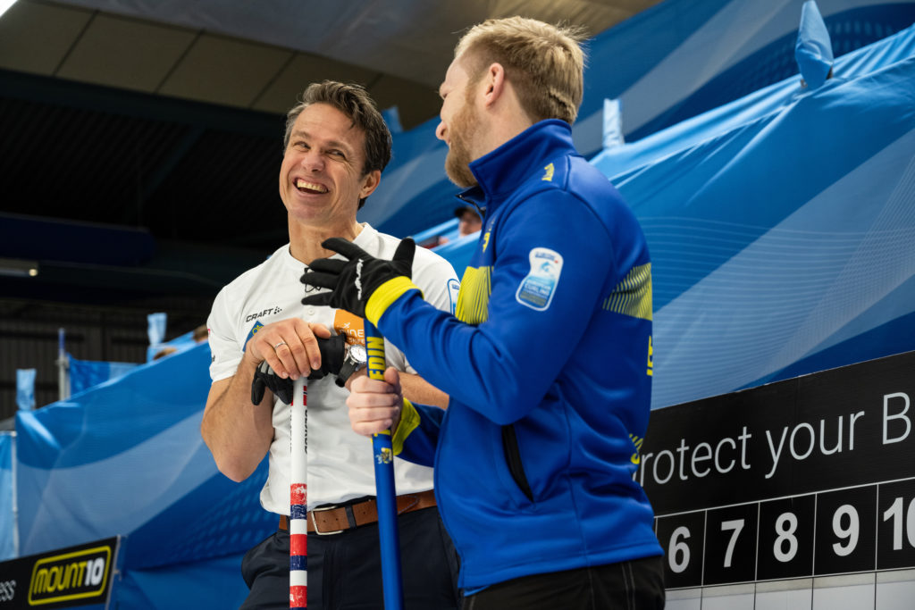 nor, Thomas Ulsrud and swe, Niklas Edin © WCF / Cheyenne Boone