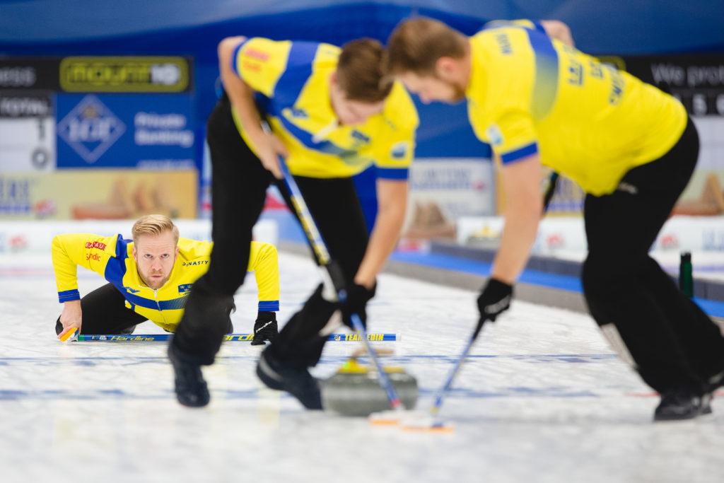 Christoffer Sundgren, Niklas Edin, Rasmus Wrana, swe © WCF / Celine Stucki