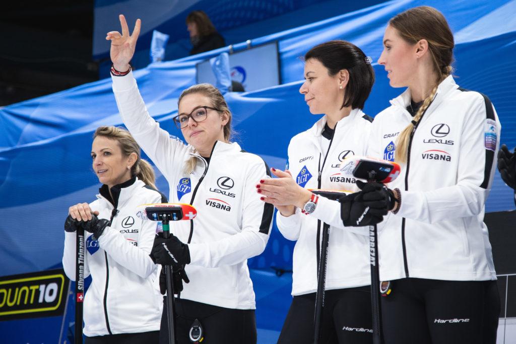 Alina Kovaleva, Esther Neuenschwander, Melanie Barbezat, Silvana Tirinzoni, sui © WCF / Celine Stucki