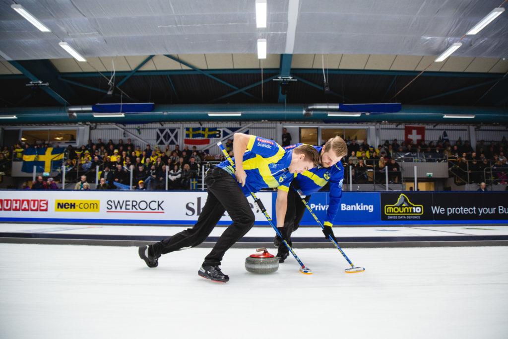 Sweden's Christoffer Sundgren, Rasmus Wrana © WCF / Céline Stucki