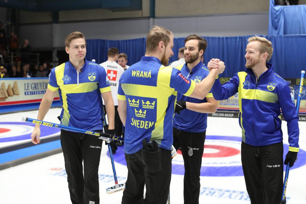 Christoffer Sundgren, Niklas Edin, Oskar Eriksson, Rasmus Wranaa, swe  © WCF / Richard Gray