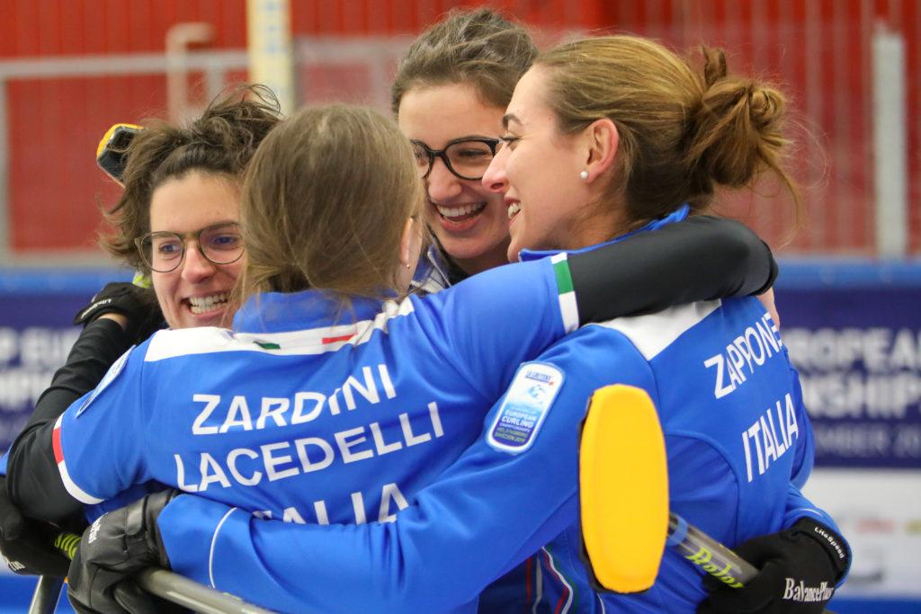 Angela Romei, Giulia Lacedelli, ita, Stefania Constantini, Veronica Zappone © WCF / Richard Gray