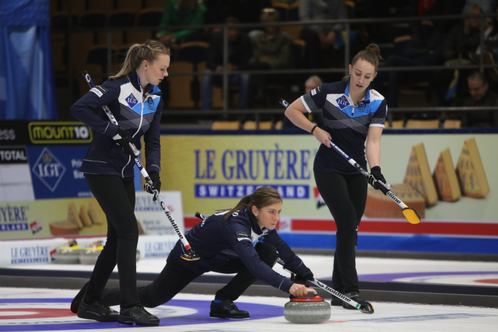 Eve Muirhead, Jennifer Dodds, sco, Victoria Wright © WCF / Richard Gray
