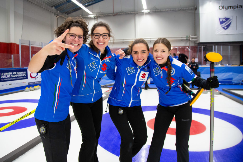Angela Romei, Giulia Lacedelli, ita, Stefania Constantini, Veronica Zappone © WCF / Celine Stucki