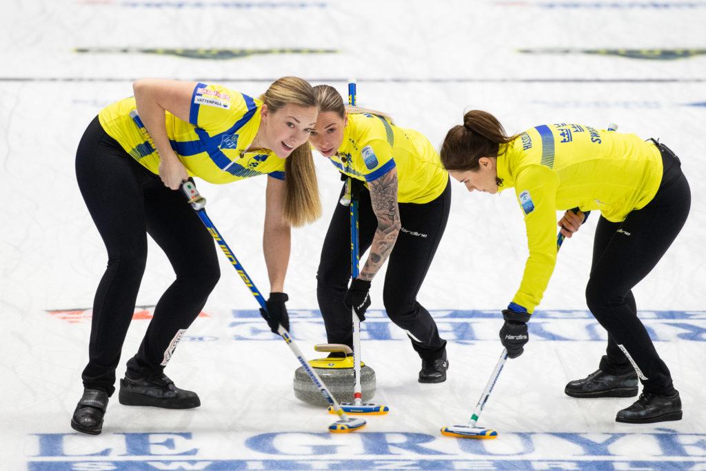 Agnes Knochenhauer, Anna Hasselborg, Sofia Mabergs, swe © WCF / Celine Stucki