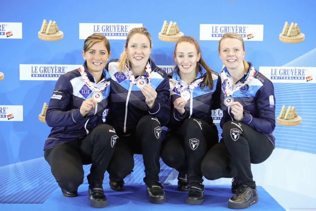 Eve Muirhead, Jennifer Dodds, Lauren Gray, swe, Victoria Wright © WCF / Richard Gray