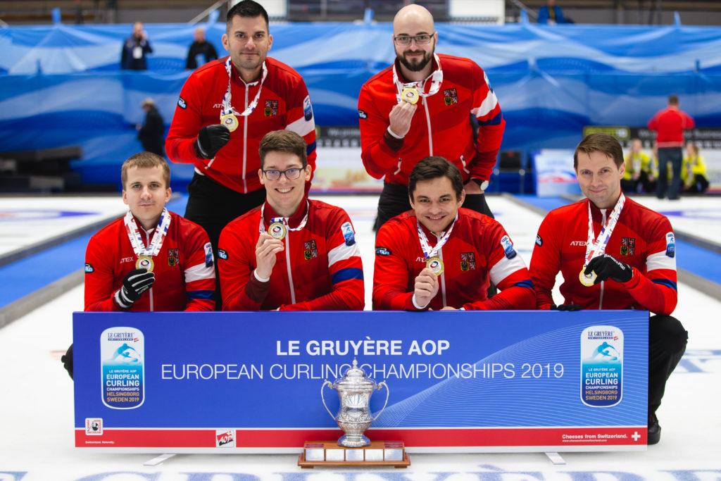 cze, Jiri Candra, Lukas Klima, Marek Cernovsky, Radek Bohac, Samuel Mokris © WCF / Celine Stucki