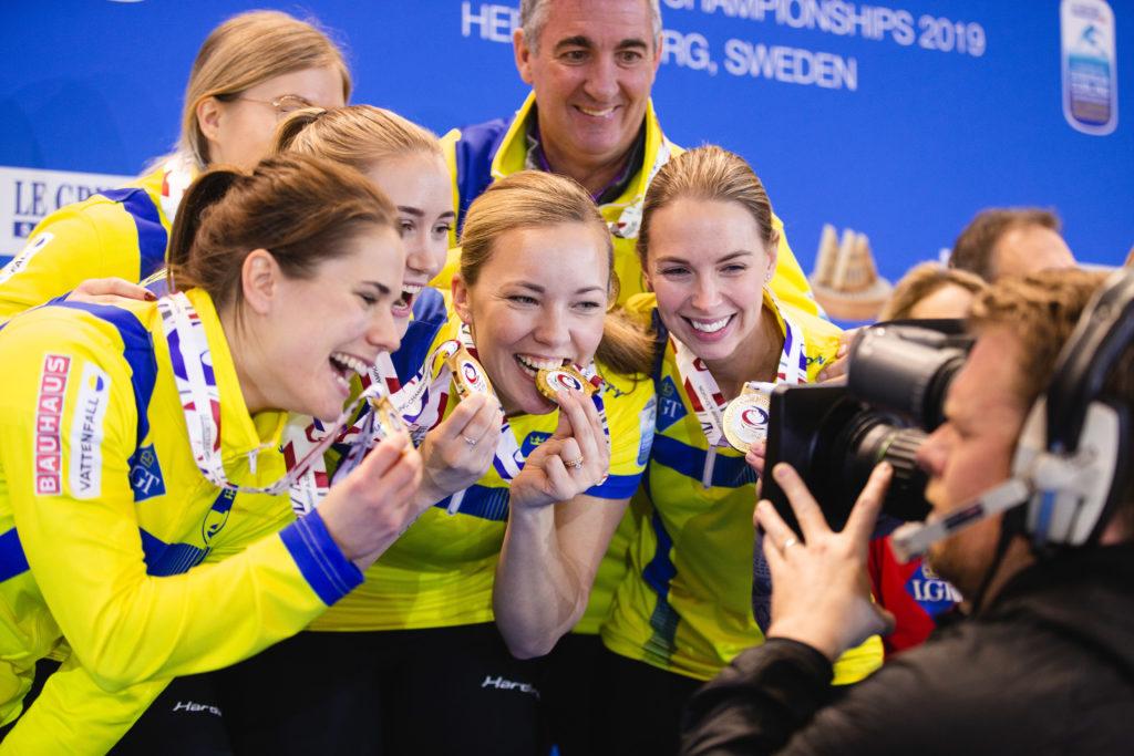 Agnes Knochenhauer, Anna Hasselborg, Johanna Heldin, Sara McManus, Sofia Mabergs, swe, Wayne Middaugh © WCF / Celine Stucki