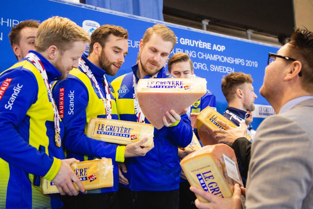 Le Gruyere, Niklas Edin, Oskar Eriksson, Rasmus Wrana, swe © WCF / Celine Stucki