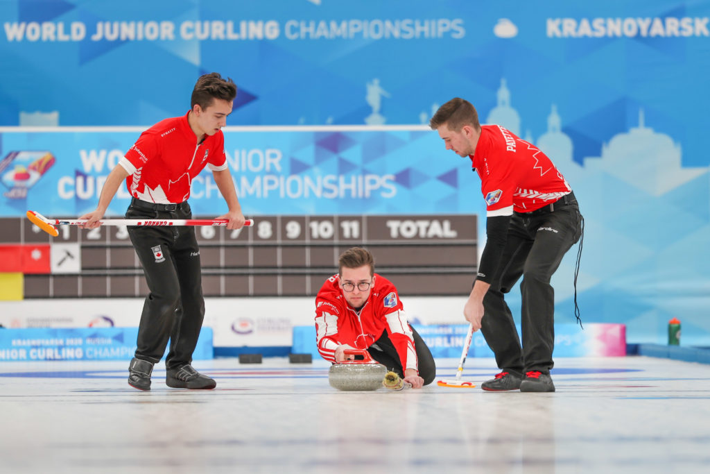Brayden Payette, Jacques Gauthier, Zachary Bilawka, can © WCF / Richard Gray