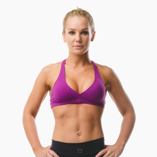 Abi Racer-back Sports Bra Top Deep Magenta Front