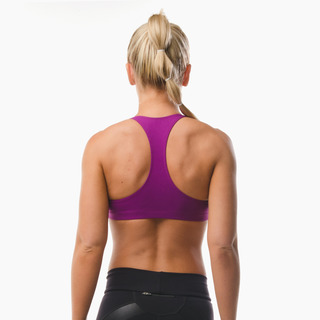Abi Racer-back Sports Bra Top Deep Magenta Back