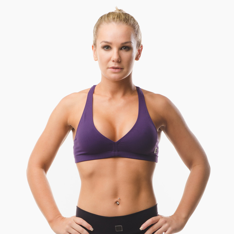 Abi Racer-back Sports Bra Top Eminence Purple Front