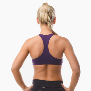 Abi Racer-back Sports Bra Top Eminence Purple Back