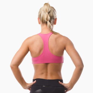 Abi Racer-back Sports Bra Top Hot Pink Back