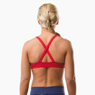 Emi Cross-back Sports Bra Top Extreme Red Back