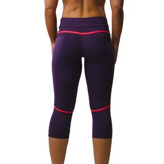 Eszter Multi-functional 3/4 Capri Legging Eminence Purple / Salmon Pink Front