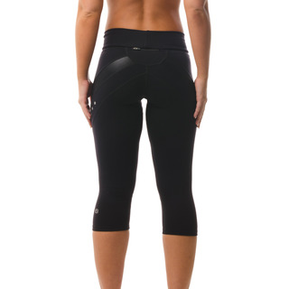 Zara Multi-functional 3/4 Capri Legging Jet Black Back