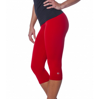Zavia Multi-functional 3/4 Capri Legging Extreme Red Front