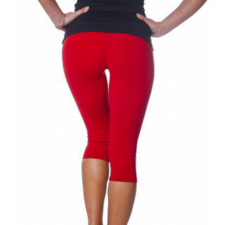 Zavia Multi-functional 3/4 Capri Legging Extreme Red Back