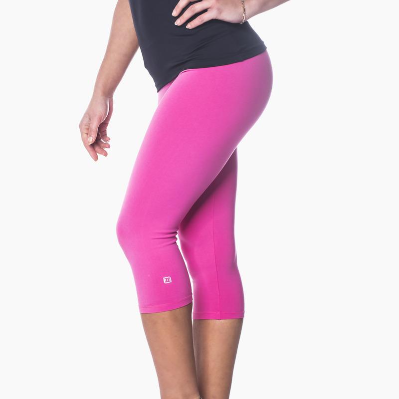 Zavia Multi-functional 3/4 Capri Legging Hot Pink Front