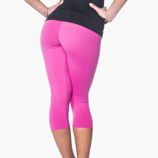 Zavia Multi-functional 3/4 Capri Legging Hot Pink Back
