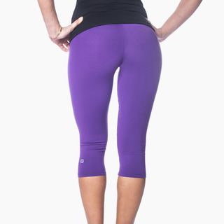 Zavia Multi-functional 3/4 Capri Legging Purple Pout Back