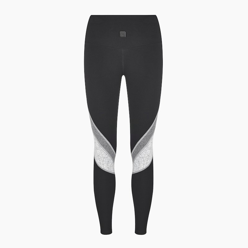 Erica Full Length Legging Jet Black Grey Swirl