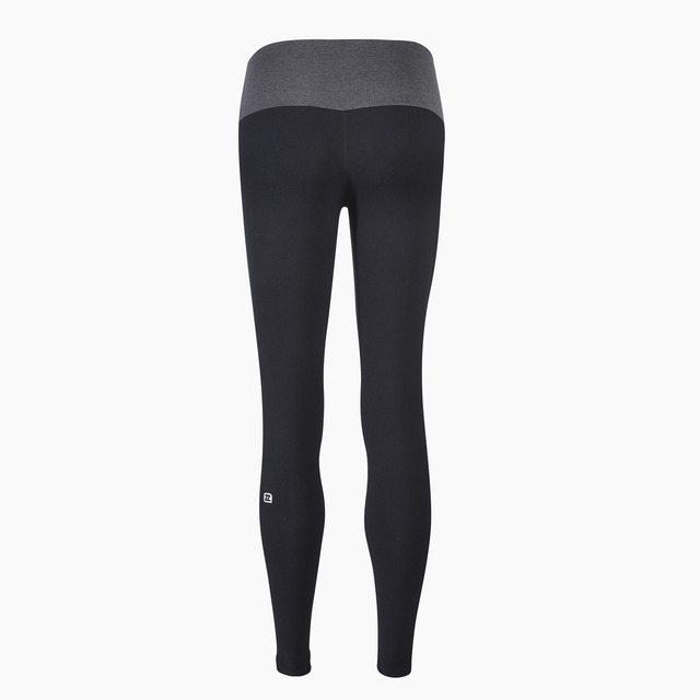 Zane Light Grey Jet Black Full Length Legging