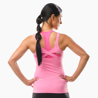 Erin Performance Vest Top Hot Pink Back