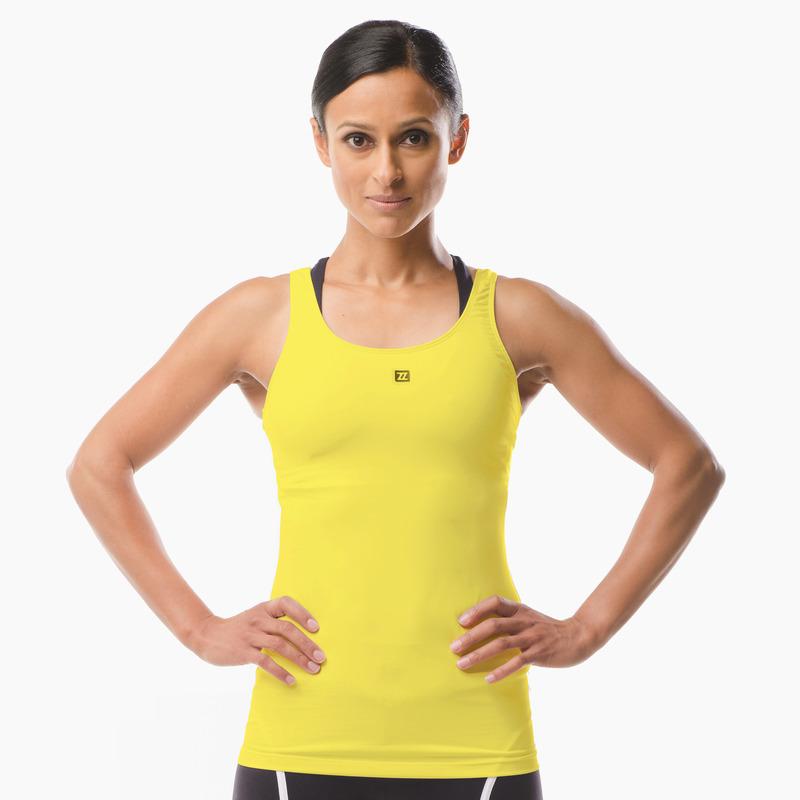 Erin Performance Vest Top Yellow Front