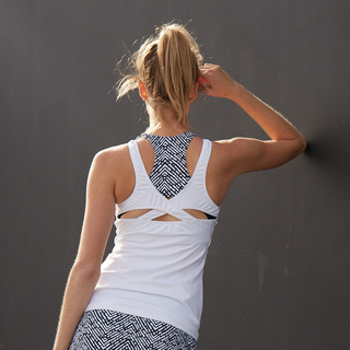 Erin Performance Vest Top Arctic White Front