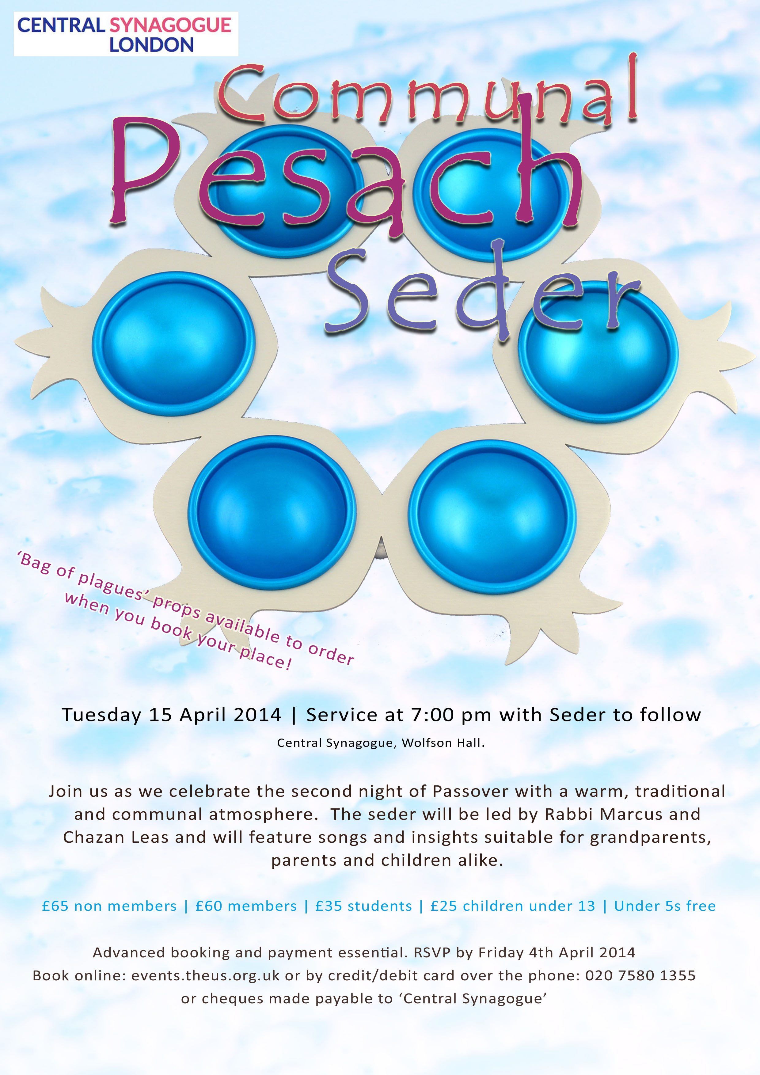 Seder Night 2014 flyer