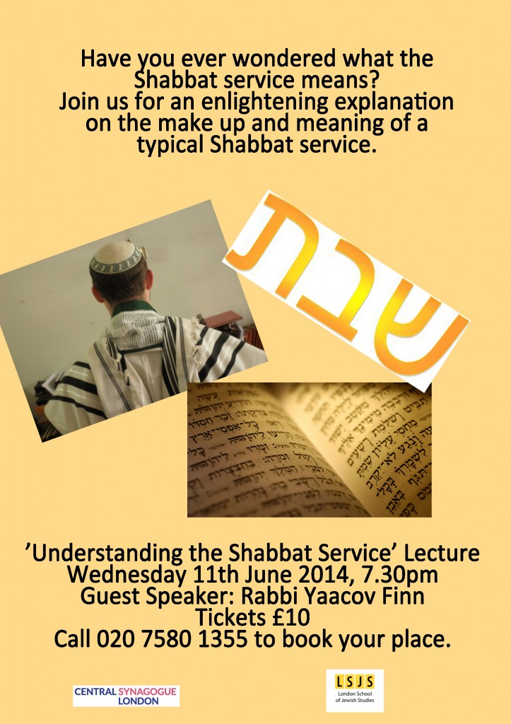 Understanding the Shabbat Service Lecture copy