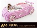 Roos kleur roze princes meisjes autobed racebed WOISS Meubel