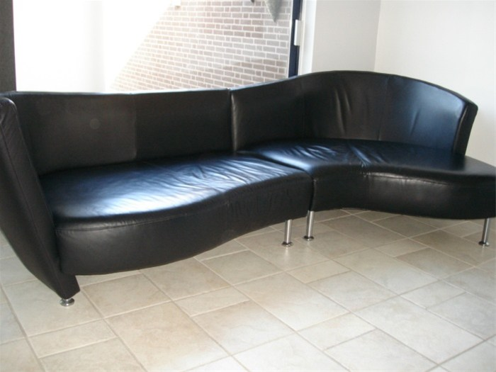 Comfortabele Leren Bank.Zeer Stijlvolle En Comfortabele Design Leren Bank