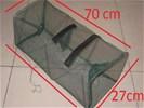 Krabben kreeft vang net - fuik 1 stuk 70 cm x 27 cm nr1