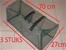 3 stuks fuik 70x27cm -- vangen van krab kreeft enz *