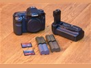 Canon 40D + Batterygrip + 4 Accu's + Lader + 8GB/2GB CF Card