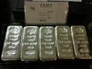 5 zilverbaren van 1 kilogram