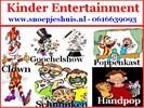 Kinderfeest, Clown, Schmink, Poppenkast, Goochelen etc