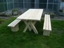 Tuinset / picknickset tafel+banken