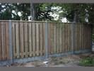 Tuinscherm hout/beton