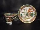 Handbeschilderd mokka kopje chinees porcelein, niet antiek