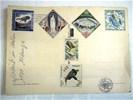 Ansichtkaart Monaco met 6 ongestempelde thema postzegels,gst