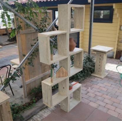 Steigerhout Boekenkast Cube Spannende Houten Kast