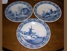 Setje 3x Delfs blauwe borden